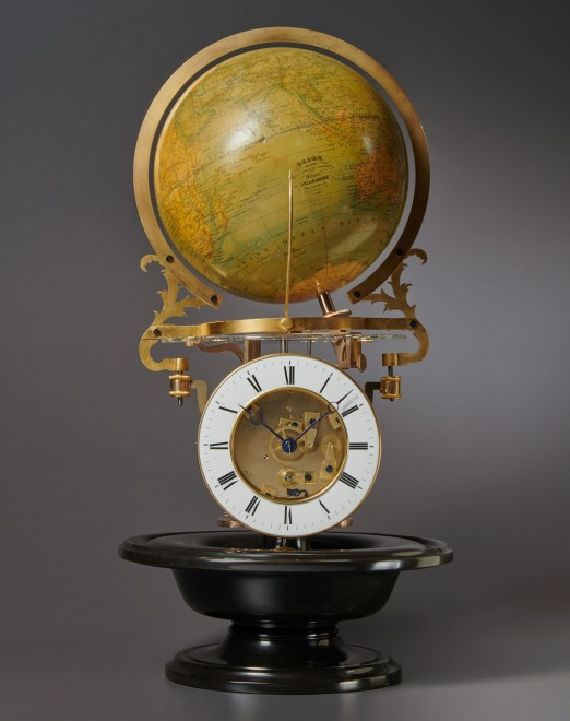 A nineteenth century French pendule cosmographique with equation of time of eight day duration by Mouret à Paris