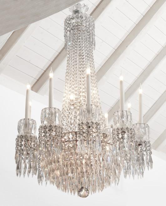 A Regency ten-light chandelier
