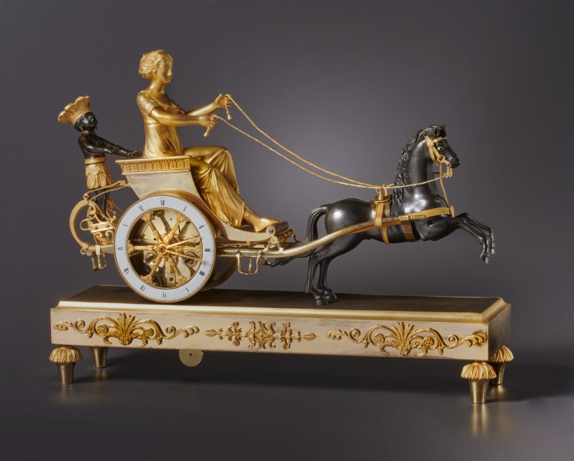 An Empire chariot clock, attributed to Jean-Simon Deverberie