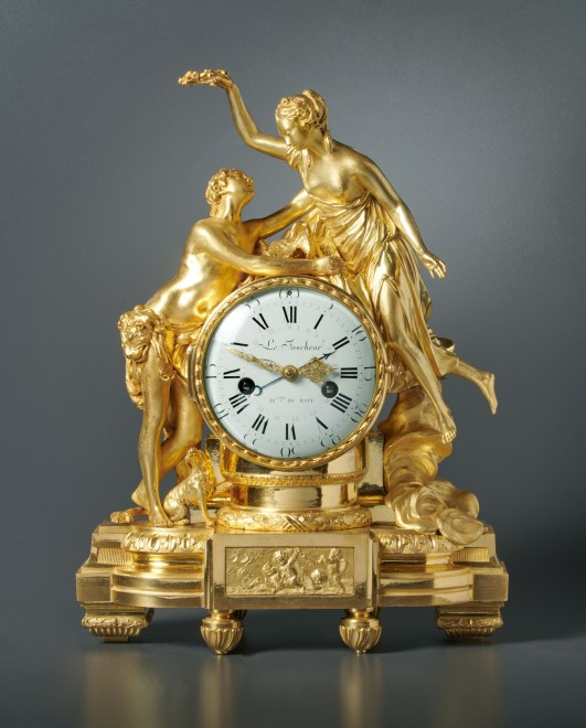 A Louis XVI mantel clock by Le Faucheur