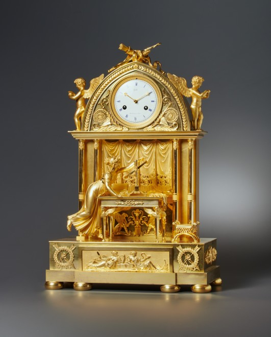 An Empire clock by Claude Galle