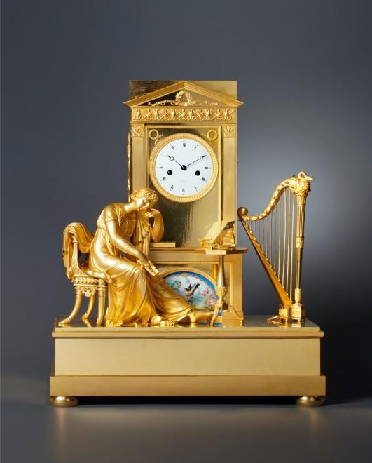 An Empire figural mantel clock by Boileau