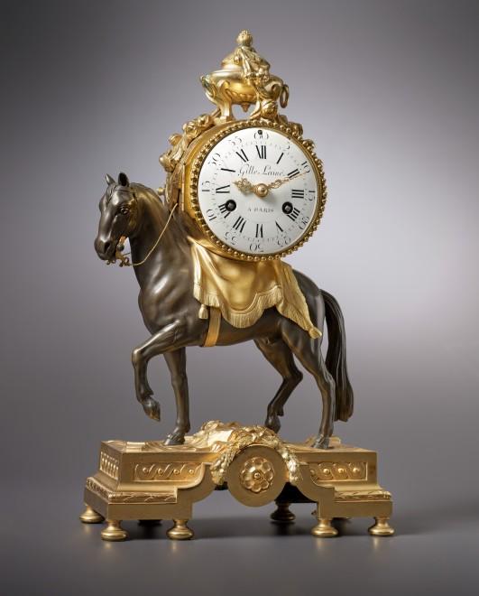 A Louis XVI miniature pendule 'au cheval' by Gille L'aine, case by François Vion