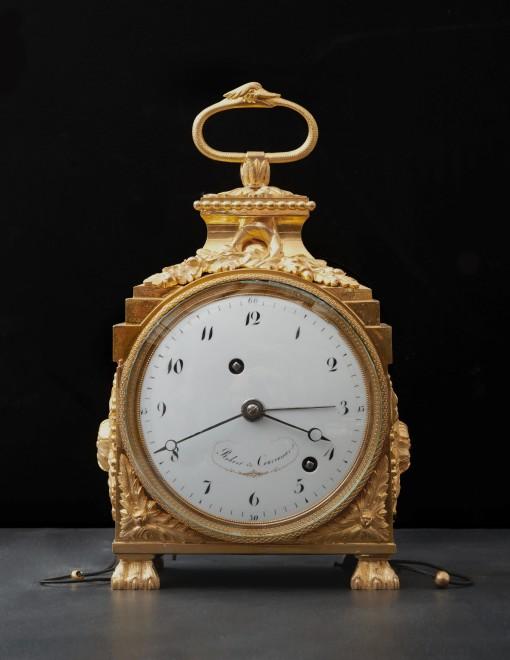 A Directoire Grande and Petite Sonnerie Pendule d'Officier by Robert & Courvoisier
