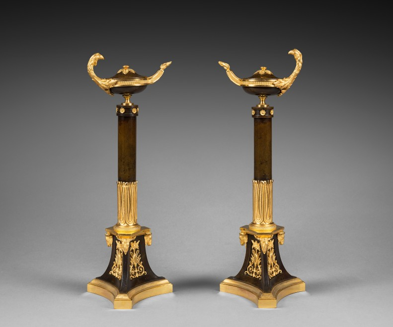 A pair of Empire candelabra attributed to Claude Galle