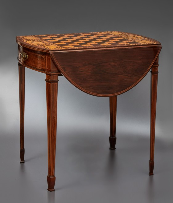 A 19th Century inlaid chess table by Collinson & Lock