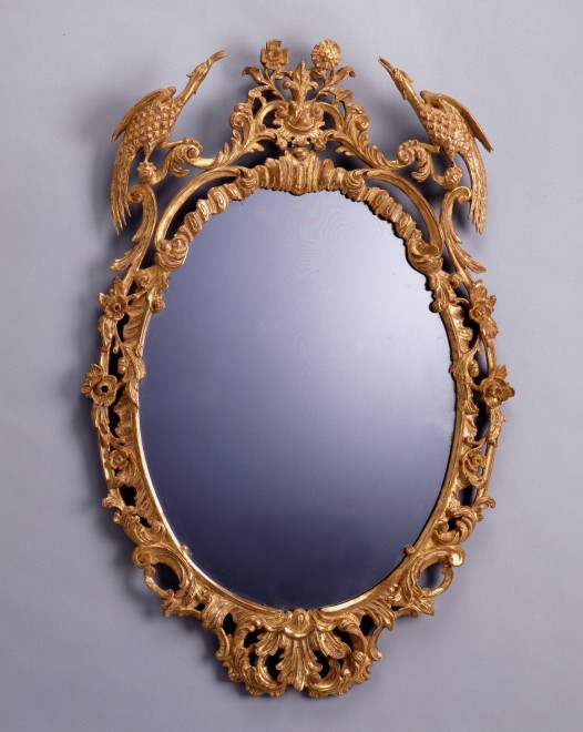 A Chippendale mirror with original glass