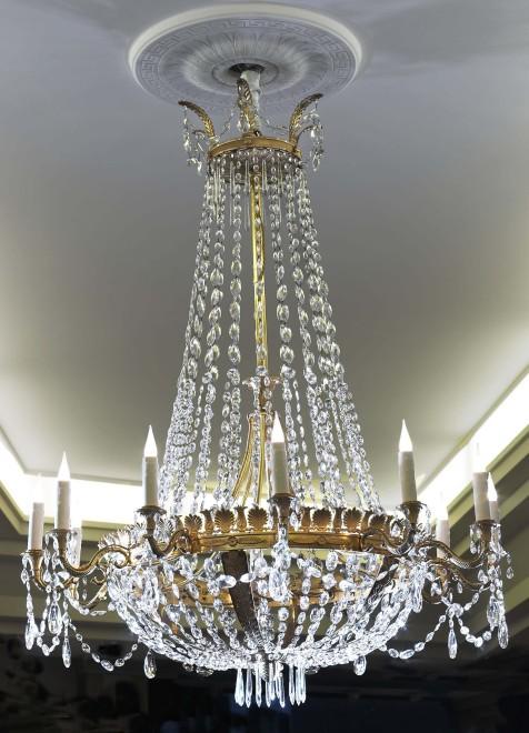An Empire twelve-light chandelier