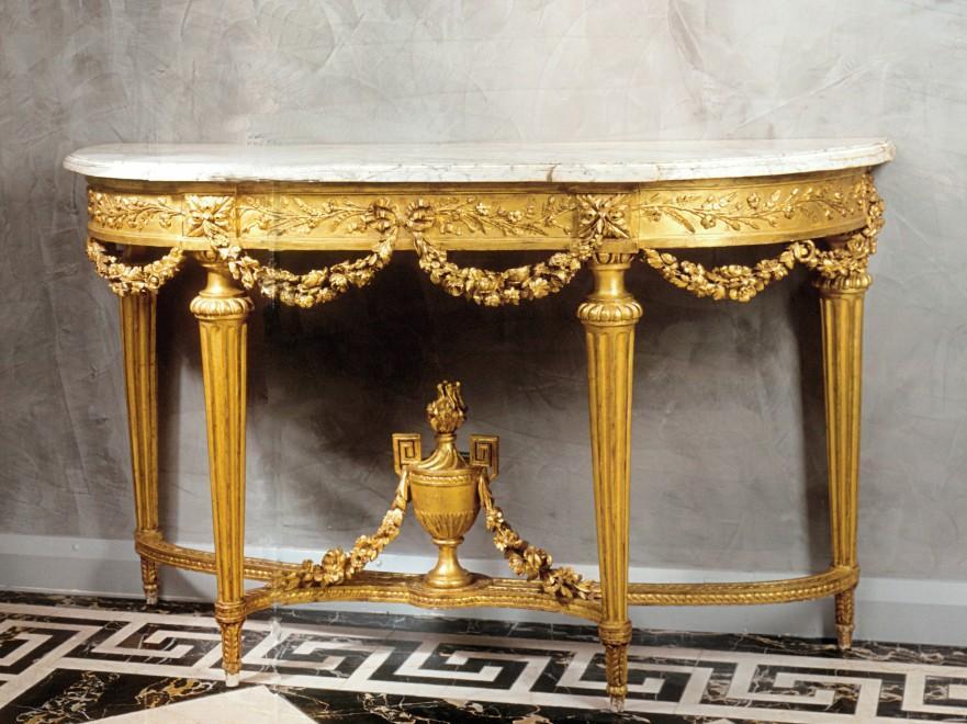 A Louis XVI console table by Etienne Epaulard