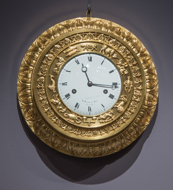 A small early Restauration cartel clock by Lepaute et Fils