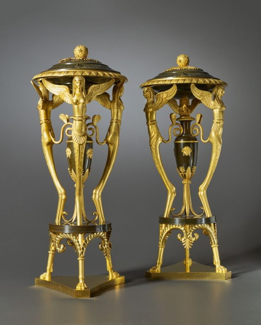 A pair of Russian Empire incense burners