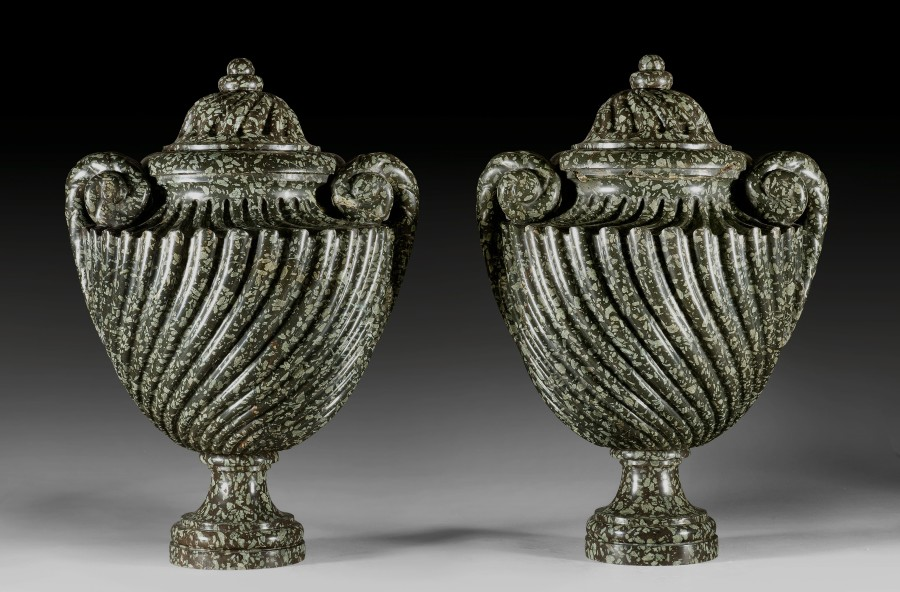 A pair of Louis XVI covered vases