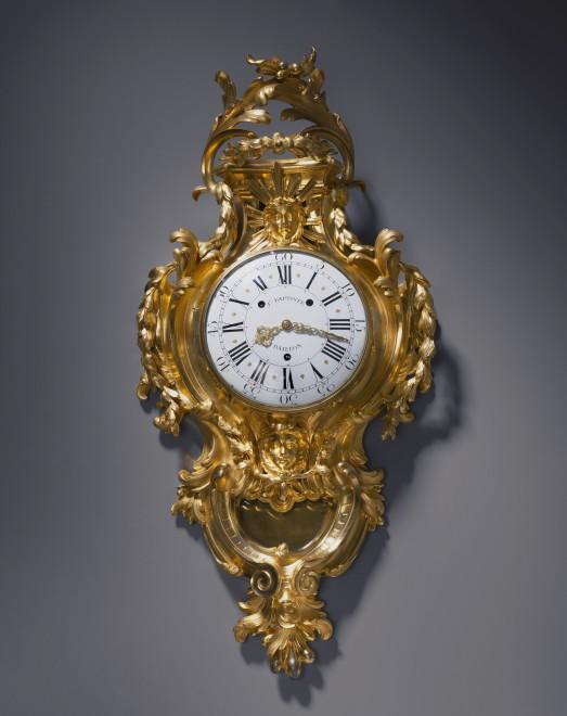A Louis XV cartel clock by Jean Baptiste Baillon III