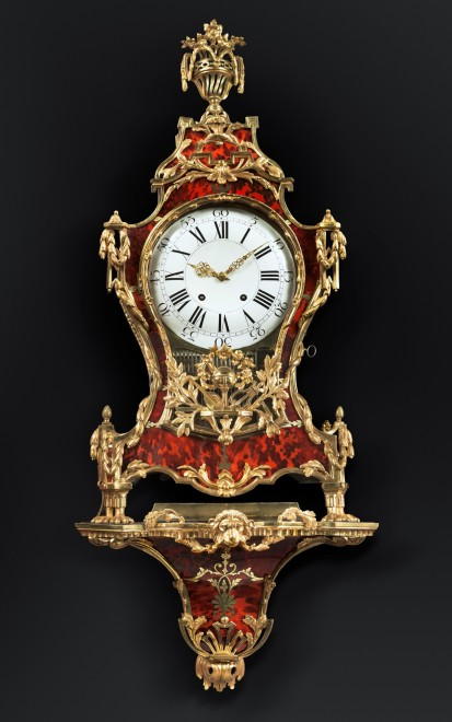 A Louis XV musical grand cartel clock with bracket by Denis-Fréderic Dubois