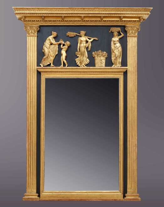 A Regency mirror of architectural form