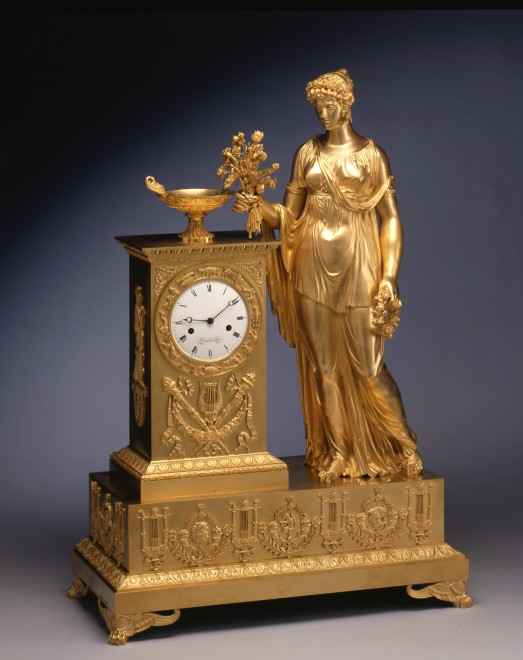 An Empire mantel clock by Lesieur