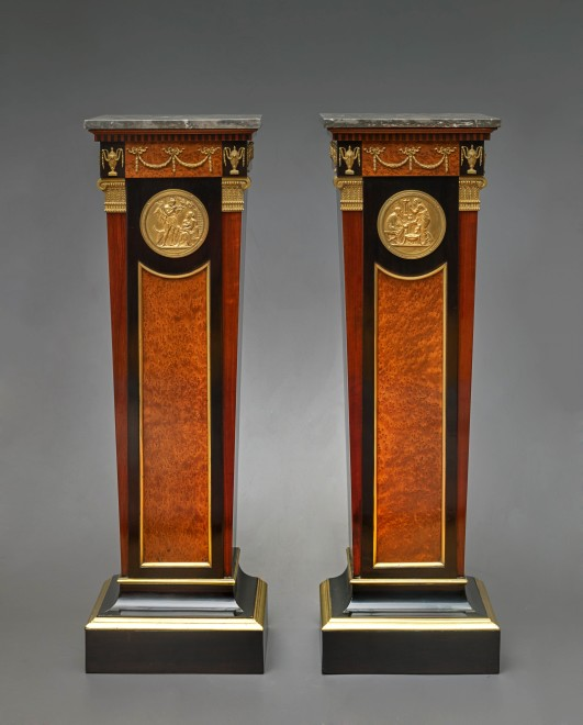 A pair of Louis XVI styled columns,