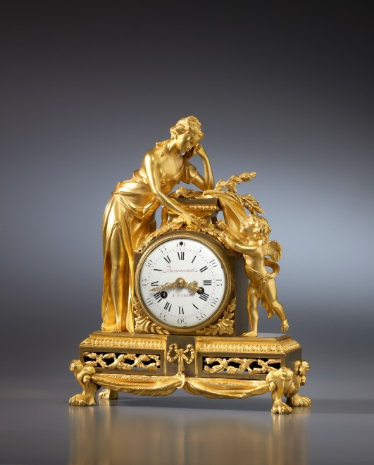 A Louis XVI mantel clock by Barancourt