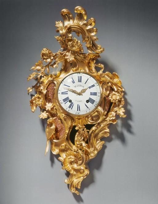 A Louis XV cartel clock by François Ageron