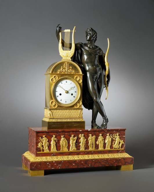 An Empire figural clock by Moinet