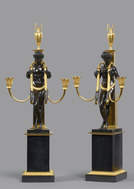 A pair of Directoire two-light candelabra attributed to Pierre-Philippe Thomire