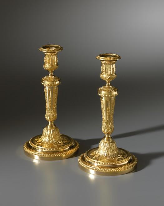A pair of Louis XVI candlesticks, Paris, date circa 1775