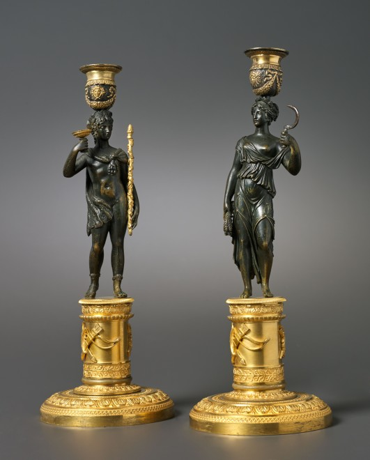 A pair of Empire candlesticks attributed to Pierre-François Feuchère