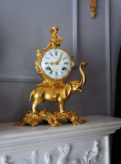A highly important Louis XV Pendule 'À L'Éléphant' by Jean Moisy