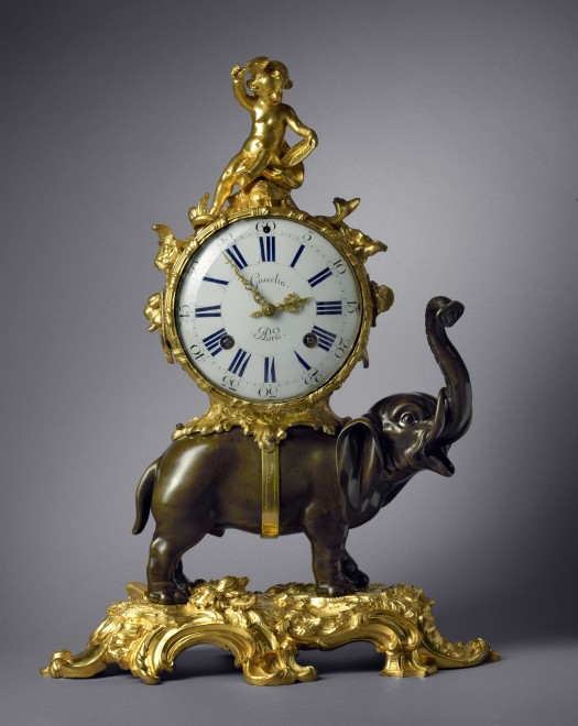 A Louis XV Pendule 'À L'Éléphant' by Gosselin case by Jean-Joseph de Saint-Germain