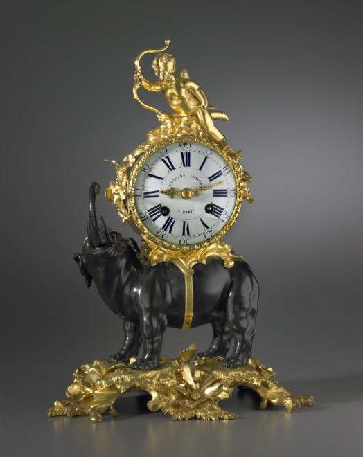 A Louis XV Pendule 'À L'Éléphant' by Etienne Le Noir
