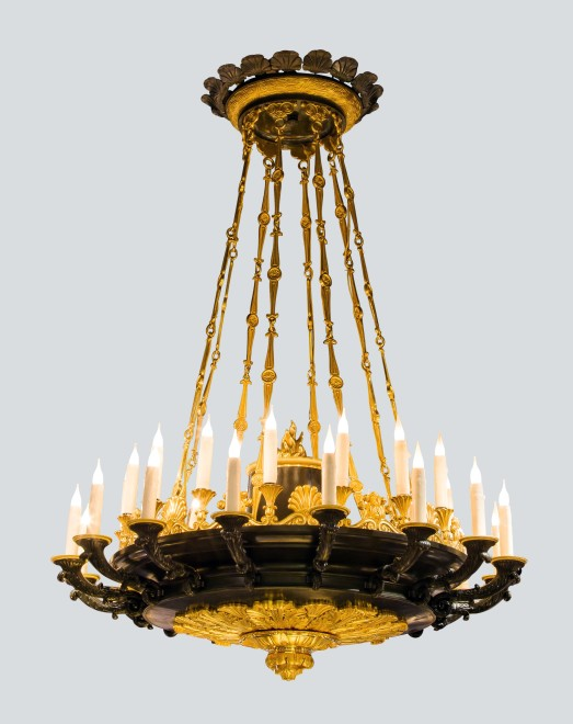 A Restauration thirty two lights chandelier