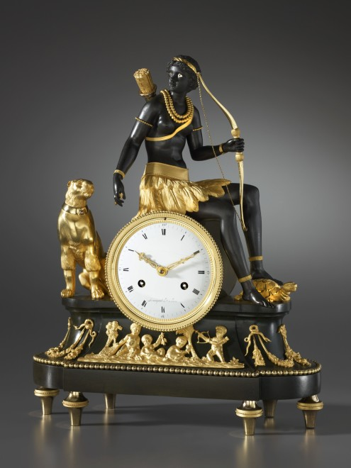 An Empire Pendule 'À L'Afrique' by Armingaud, case attributed to Jean-Simon Deverberie