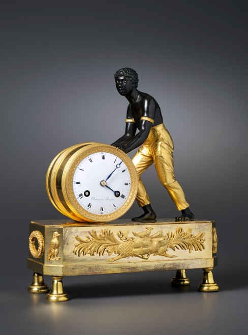 An Empire Pendule %22Au Nègre%22 by Pierre Daniel Destigny, case by Jean-André Reiche