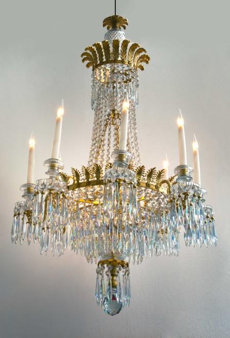 A Regency eight-light chandelier