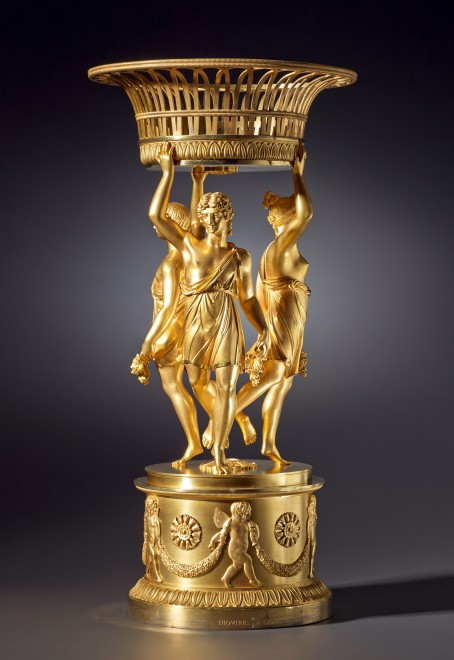 An Empire figural centrepiece stamped by Pierre-Philippe Thomire