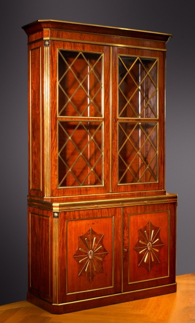 A late eighteenth century Russian Jacob Style bureau bookcase attributed to Christian Meyer