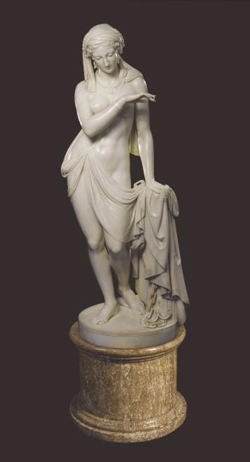 A Classical statue of The Greek Slave or La Schiava Greca by Scipione Tadolini