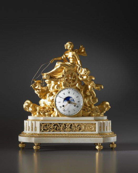 A Louis XVI mantel clock with an astronomical movement, by Georges-Adrien Merlet