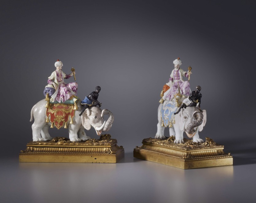 A pair of Kändler period figurines probably by Johann Joachim Kändler and Peter Reinicke