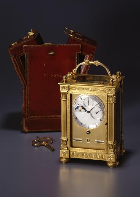 A gilt bronze grande and petite sonnerie striking carriage clock by Breguet et Fils