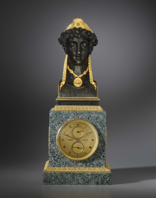 An Empire mantel clock by Basile-Charles Le Roy