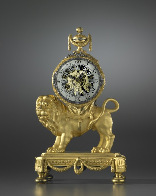A Louis XVI Pendule 'Au Lion', housed in a case attributed to François Vion with movement attributed to Pierre-Antoine Regnault