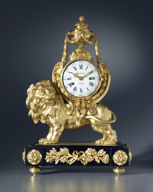 A Louis XVI Pendule 'Au Lion' by Jean-Gabriel Imbert, the case attributed to François Vion
