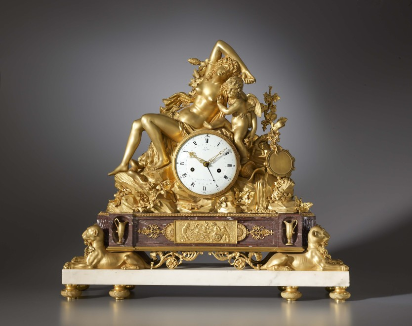 A Louis XVI mantel clock by Jean-Antoine Lépine, the case attributed to Pierre Philippe Thomire
