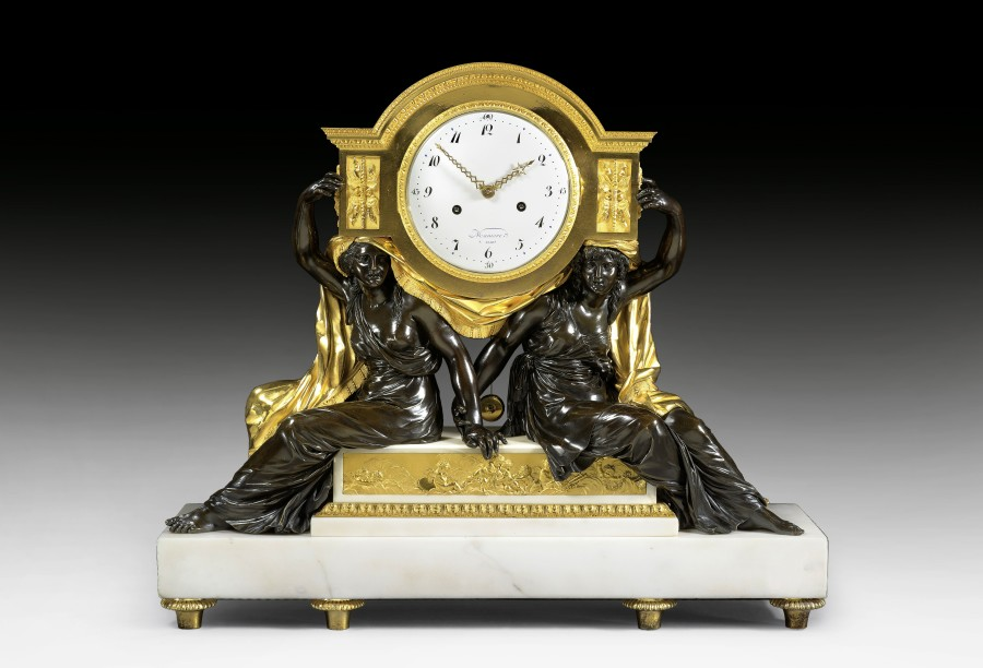 A late Louis XVI  mantel clock movement by Charles-Guillaume Manière, the case attributed to François Rémond