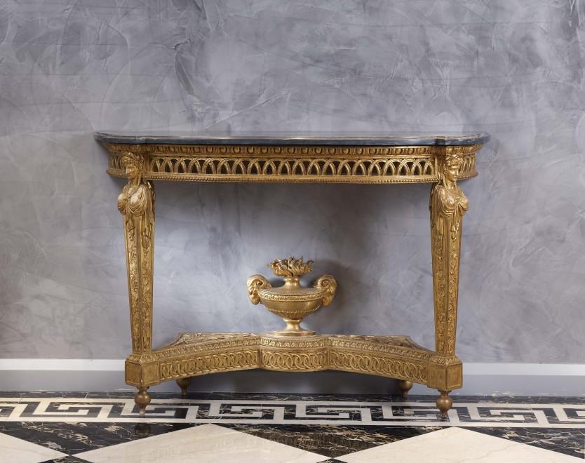 A Louis XVI demi-lune console