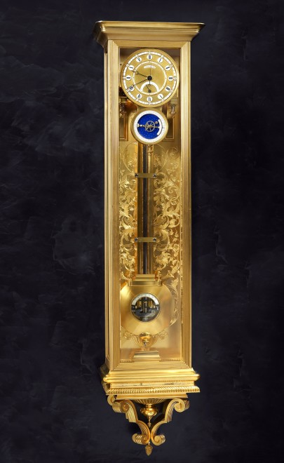 A Second Empire astronomical wall regulator by Louis-Constantin Detouche