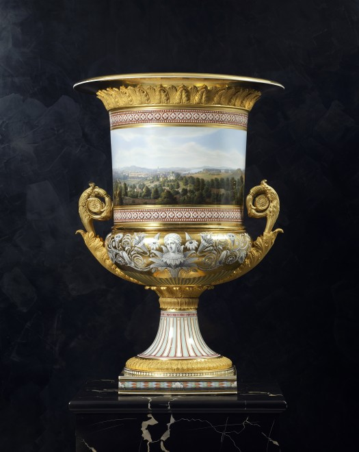 A Classical Medici vase made by the Royal Berlin Porcelain Manufactory