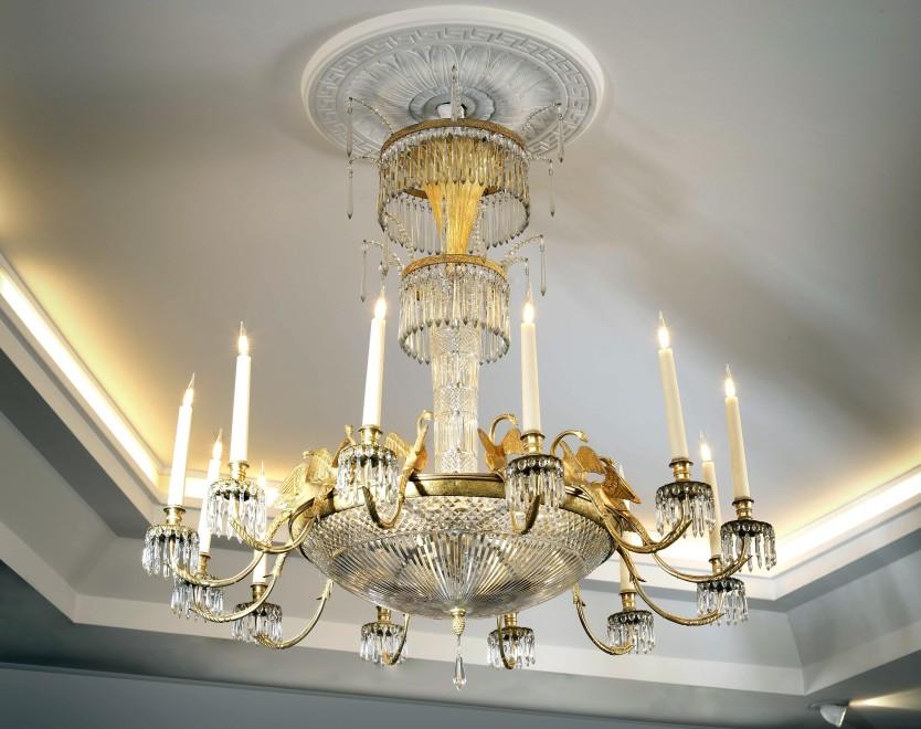 An Empire Baltic twelve-light chandelier