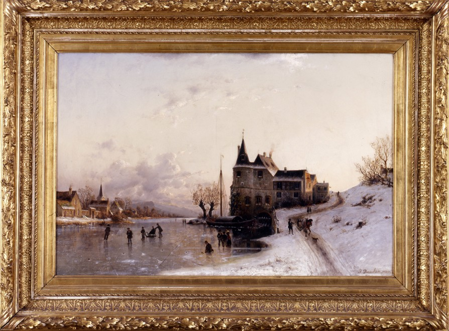 """Winter Afternoon"" by Johannes Bartholomäus Duntze"